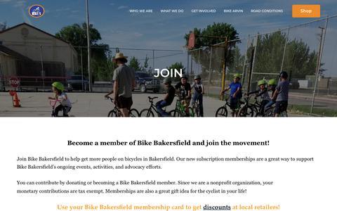 Screenshot of Signup Page bikebakersfield.org - Join | BIKE BAKERSFIELD - captured Aug. 2, 2018
