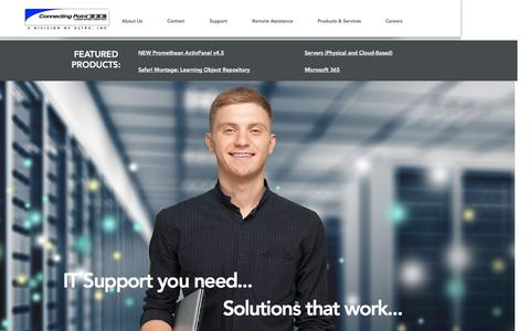 Screenshot of Home Page connectingpoint.biz - Connecting Point Technology Sales and Service - captured Nov. 9, 2016