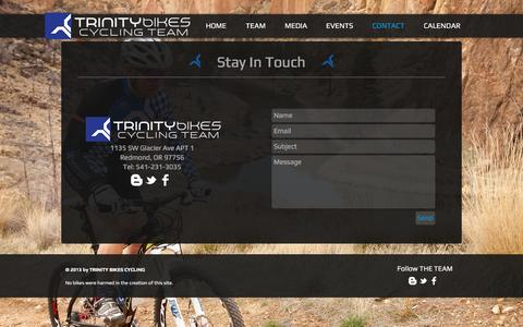 Screenshot of Contact Page trinitybikescycling.com - Contact - captured Dec. 17, 2016