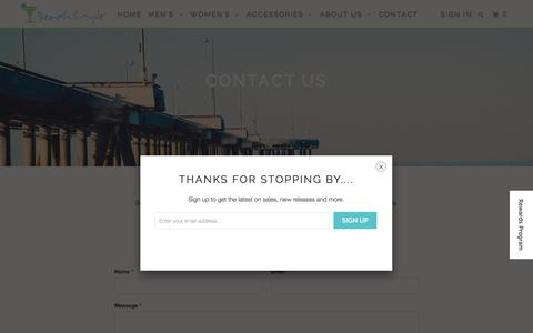 Screenshot of Contact Page beachsimple.com - Contact Us   - BeachSimple® Clothing Company - captured Feb. 7, 2016