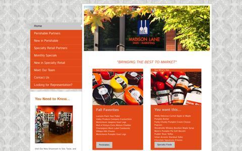 Screenshot of Home Page madison-lane.com - Madison Lane Sales + Marketing - Home - captured Feb. 2, 2016