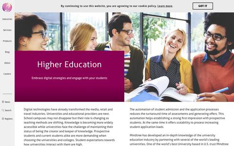 Higher Education | Mindtree