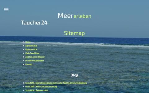 Screenshot of Site Map Page jimdo.com - Sitemap - Taucher24 - Tauchsport - Meer erleben - Deutschland Ägypten und weitere - captured March 31, 2017