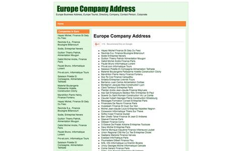 Screenshot of Home Page rssaid.com - Europe Company Address - captured June 2, 2016