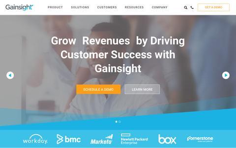 Screenshot of Home Page gainsight.com - Gainsight - captured Dec. 7, 2015