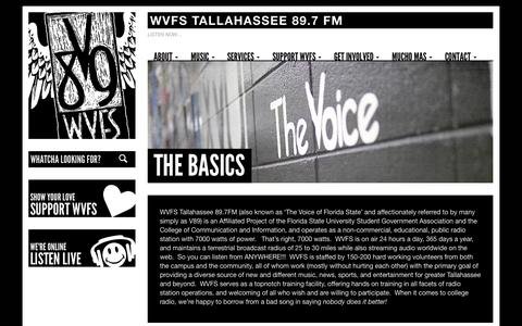 Screenshot of About Page fsu.edu - The Basics - WVFS Tallahassee - captured Oct. 26, 2014