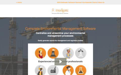 Screenshot of Landing Page medgate.com - Medgate's Environmental Management Software - Request a Demo Today! - captured Nov. 3, 2016