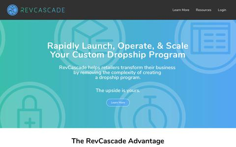 Screenshot of Home Page revcascade.com - RevCascade - Dropshipping Made Easy. | - captured Nov. 1, 2018