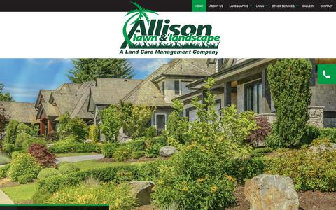 Screenshot of Home Page allisonlawncare.com - Home | Tampa Lawn Care, Lawn Maintenance and Lawn Service - captured Oct. 3, 2018