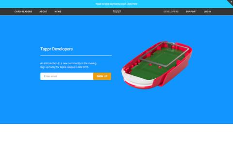 Screenshot of Developers Page tappr.io - Tappr for Developers - captured Dec. 6, 2016