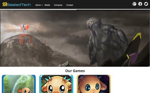 Screenshot of Home Page sealedtech.com - SealedTech - Australia indie video game studio - captured Oct. 3, 2014