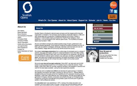 Screenshot of About Page scottishopera.org.uk - About Us | Scottish Opera - captured Sept. 30, 2014