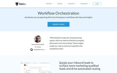 DataFox | Solutions - Workflow Orchestration