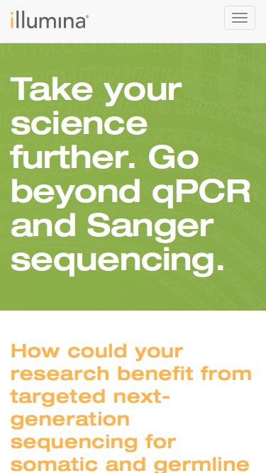 Take your science further. Go beyond qPCR and Sanger sequencin