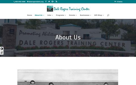 Screenshot of About Page drtc.org - About Us   Dale Rogers Training Center - captured Oct. 7, 2018
