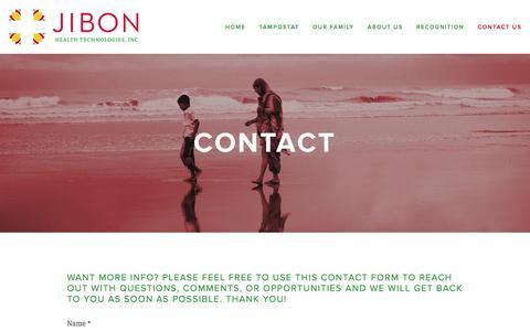 Screenshot of Contact Page jibonhealth.com - Contact Us — Jibon Health Technologies, Inc. - captured Oct. 6, 2014