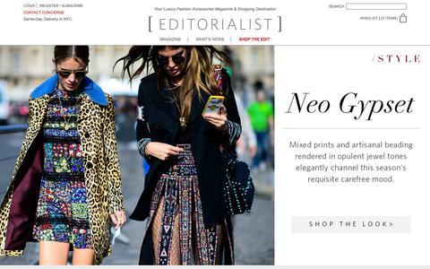 Screenshot of Home Page editorialist.com - Editorialist | Luxury Fashion Accessories Magazine & Online Store - captured Jan. 6, 2016