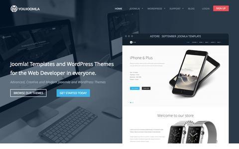 Screenshot of Home Page youjoomla.com - Professional Joomla Templates,WordPress Themes - Joomla Templates Club - captured Oct. 1, 2015