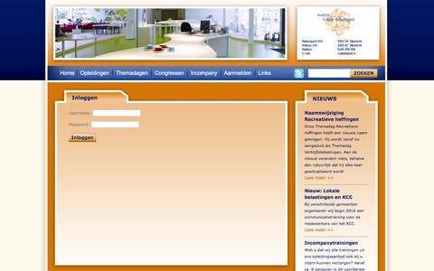 Screenshot of Login Page lokbel.nl - Academie Lokale Belastingen - captured Feb. 5, 2016