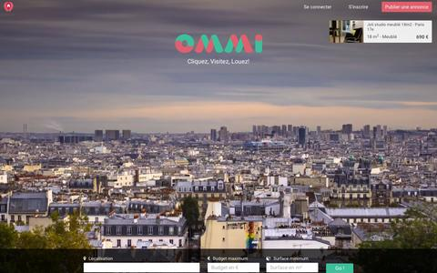 Screenshot of Home Page ommi.fr - Location d'appartements à Paris - OMMi - captured Jan. 10, 2016