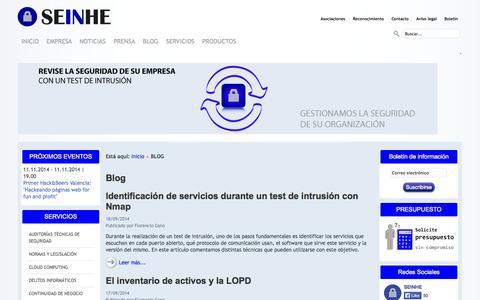 Screenshot of Blog seinhe.com - BLOG - captured Sept. 30, 2014