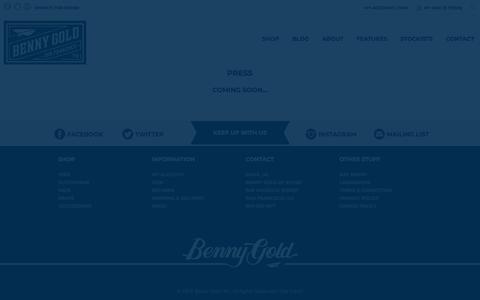 Screenshot of Press Page bennygold.com - Press  | Benny Gold - captured Aug. 1, 2018