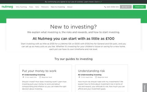 Investing for beginners | How to start investing - Nutmeg