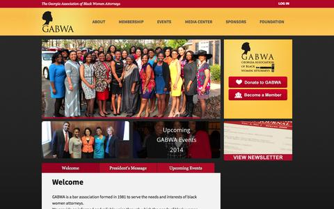 Screenshot of Home Page gabwa.org - The Georgia Association of Black Women Attorneys - captured Jan. 23, 2015