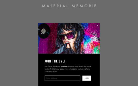 Screenshot of Home Page materialmemorie.com - MATERIAL MEMORIE - captured Sept. 20, 2018