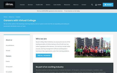 Screenshot of Jobs Page virtual-college.co.uk - Careers in e-Learning | E-learning Jobs | Virtual College - captured Nov. 22, 2017