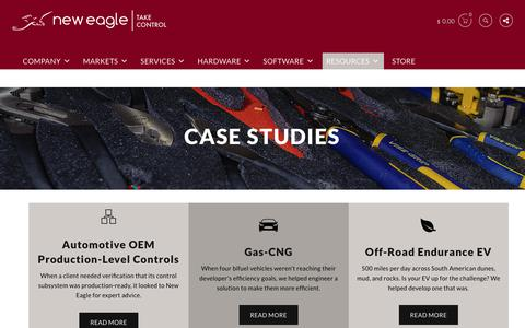 Screenshot of Case Studies Page neweagle.net - Case Studies | New Eagle - captured Aug. 22, 2017