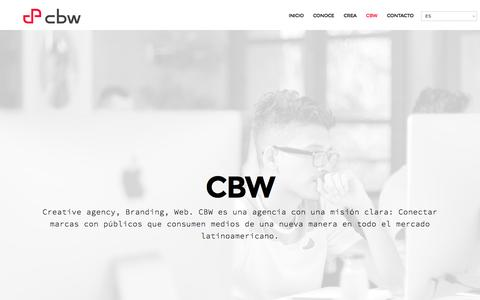 Screenshot of About Page cbwagencia.com - CBW - CBW - captured March 28, 2016