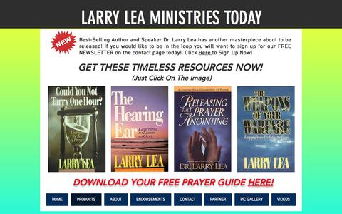 Screenshot of Products Page larrylea.com - larry-lea-ministries | PRODUCTS - captured March 23, 2017