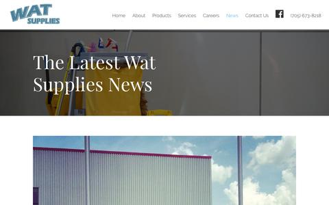 Screenshot of Press Page watsupplies.com - News - Wat Supply - captured June 11, 2017