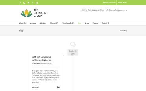 Screenshot of Blog broadleafgroup.com - Blog - The Broadleaf Group - captured Nov. 2, 2014