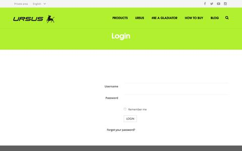 Screenshot of Login Page ursus.it - Login - captured Feb. 3, 2016