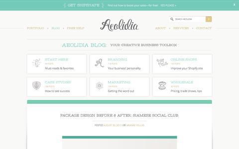 Screenshot of Blog aeolidia.com - Aeolidia Blog: your creative business toolbox - captured Sept. 2, 2017