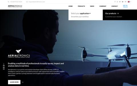 Screenshot of About Page Jobs Page aerialtronics.com - Company - Aerialtronics - captured July 29, 2018