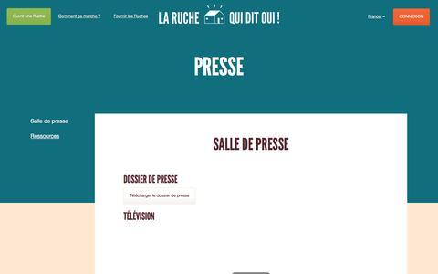 Screenshot of Press Page laruchequiditoui.fr - La Ruche qui dit Oui ! - Presse - captured July 3, 2016
