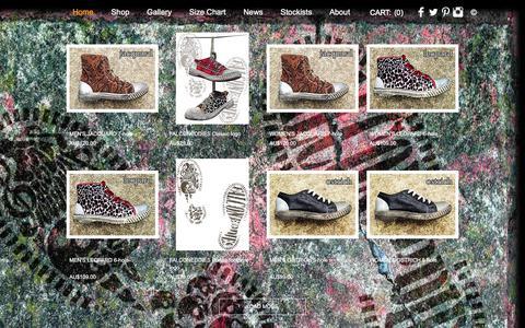 Screenshot of Home Page falconeddies.com - FALCONEDDIES Boots and Shoes Australia - captured Aug. 24, 2018