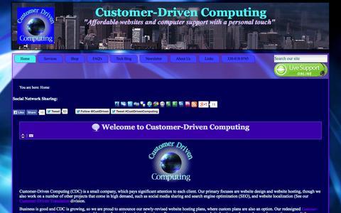 Screenshot of Home Page customerdrivencomputing.net - Customer-Driven Computing - Home - captured Sept. 30, 2014