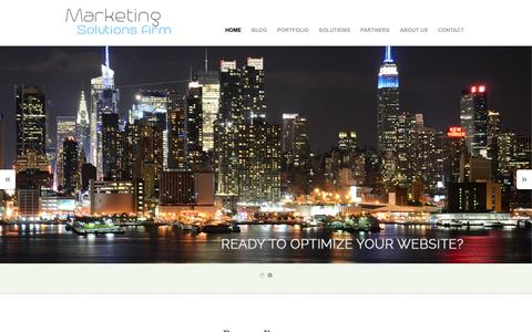 Screenshot of Home Page marketingsolutionsfirm.com - Marketing Solutions Firm | Marketing - captured Jan. 21, 2015