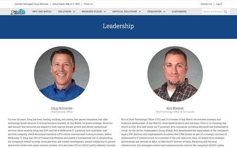 Screenshot of Team Page 2ndwatch.com - Leadership Â« 2nd Watch - captured July 3, 2016