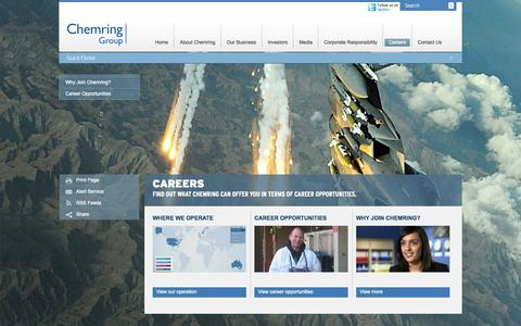 Screenshot of Jobs Page chemring.co.uk - Careers – Chemring Group PLC - captured Oct. 2, 2014