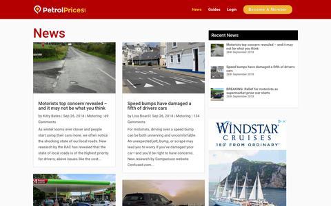 Screenshot of Press Page petrolprices.com - Latest News - Fuel, Automotive, Finance and More | PetrolPrices.com - captured Sept. 27, 2018