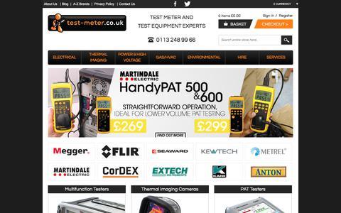 Screenshot of Home Page test-meter.co.uk - Test Meters, Electrical Testing Equipment & Measurement Instruments - captured Nov. 16, 2017