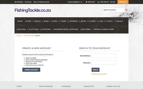 Screenshot of Login Page mybigcommerce.com - FishingTackle.co.za - Sign in - captured Sept. 18, 2014
