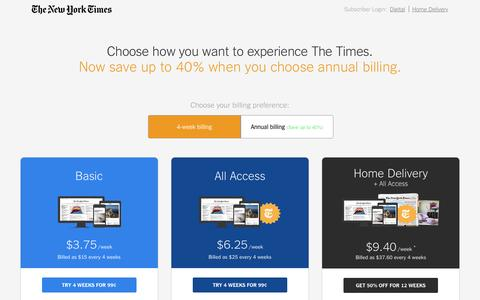 The New York Times: Get a Digital Subscription