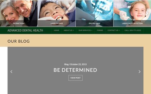 Screenshot of Blog advanceddentalhealthdenver.com - Blog Archives - Advanced Dental Health - captured Jan. 26, 2016