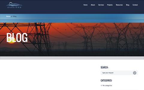 Screenshot of Blog sustineocorp.com - Blog - SUSTINEO : SUSTINEO - captured Oct. 8, 2014